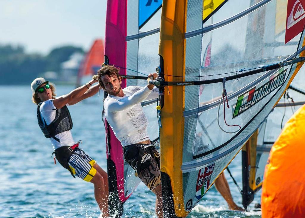 ISAF Sailing World Cup Miami 2014 - Day 1 Men's RS:X © Walter Cooper /US Sailing http://ussailing.org/