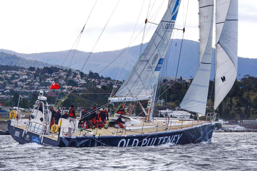 Old Pulteney at the start of race 7 in the Clipper Round the World, from Hobart to Brisbane, leaving from Constitution Dock in Hobart, Thursday, Jan. 2, 2014. © AAP Image / Heath Holden