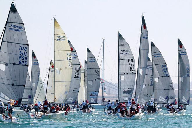 Sailing: Gill Melges 24 World Championship 2014 - Race 10 start © Teri Dodds