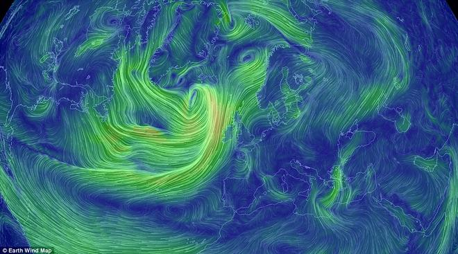 Earth showing Britain's current horrific weather ©  SW