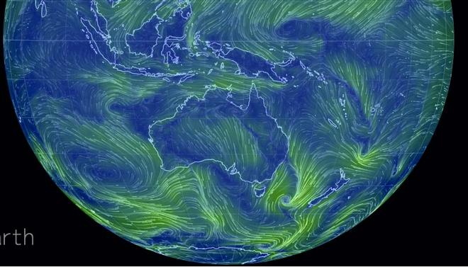 Earth showing Indian and South Pacific Oceans ©  SW