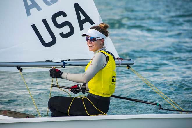 Paige Railey - Sailing World Cup 2014, Miami, Medal Race Laser Radial © Walter Cooper /US Sailing http://ussailing.org/