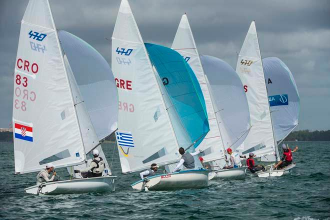 Sailing World Cup 2014, Miami - Medal Race 470 Men © Walter Cooper /US Sailing http://ussailing.org/