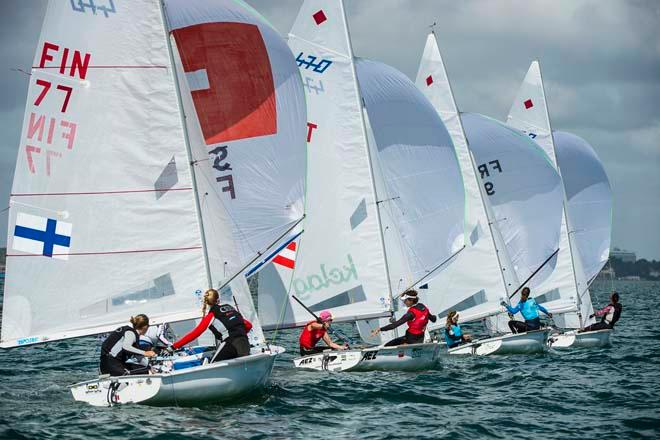 Sailing World Cup 2014, Miami - Medal Race 470 Women © Walter Cooper /US Sailing http://ussailing.org/