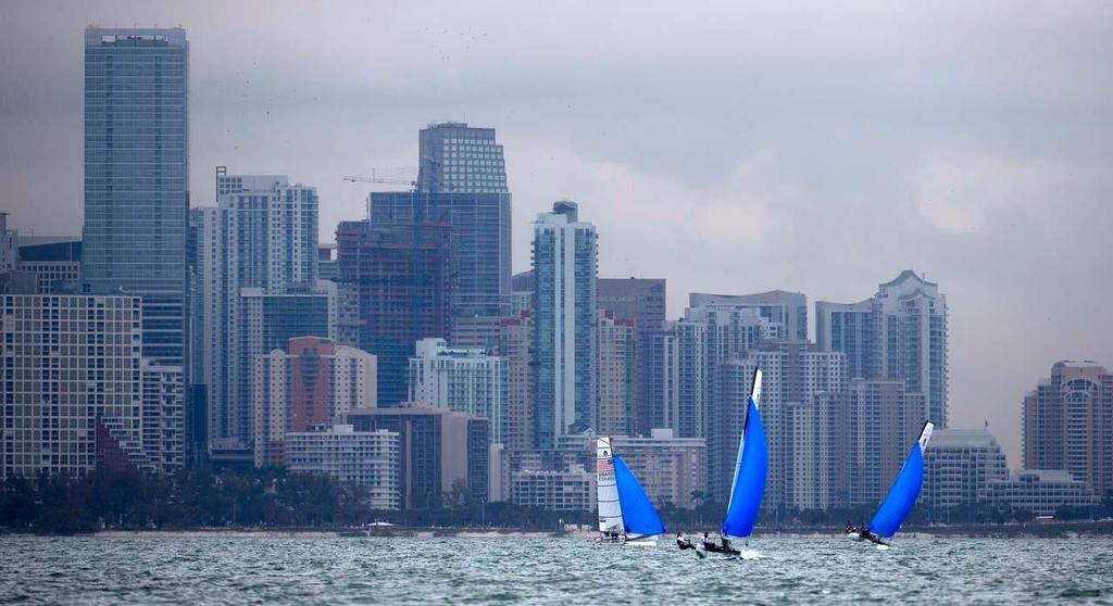 ISAF Sailing World Cup 2014, Miami FL © Richard Langdon /Ocean Images http://www.oceanimages.co.uk