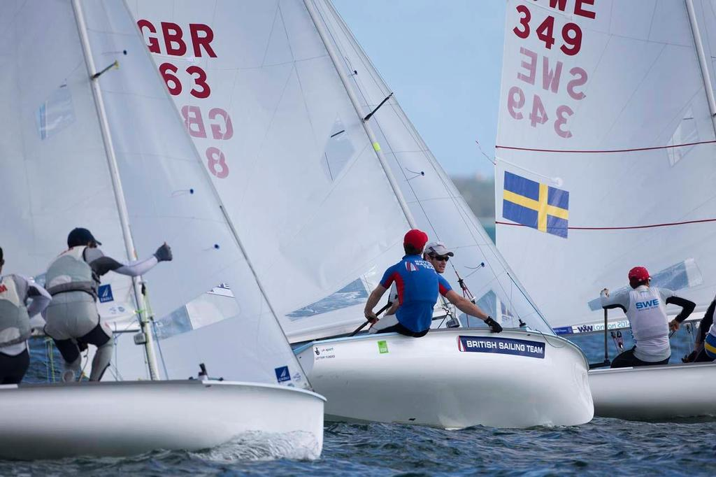 Luke Patience and Joe Glanfield, 470 - ISAF Sailing World Cup Miami 2014 © Richard Langdon /Ocean Images http://www.oceanimages.co.uk