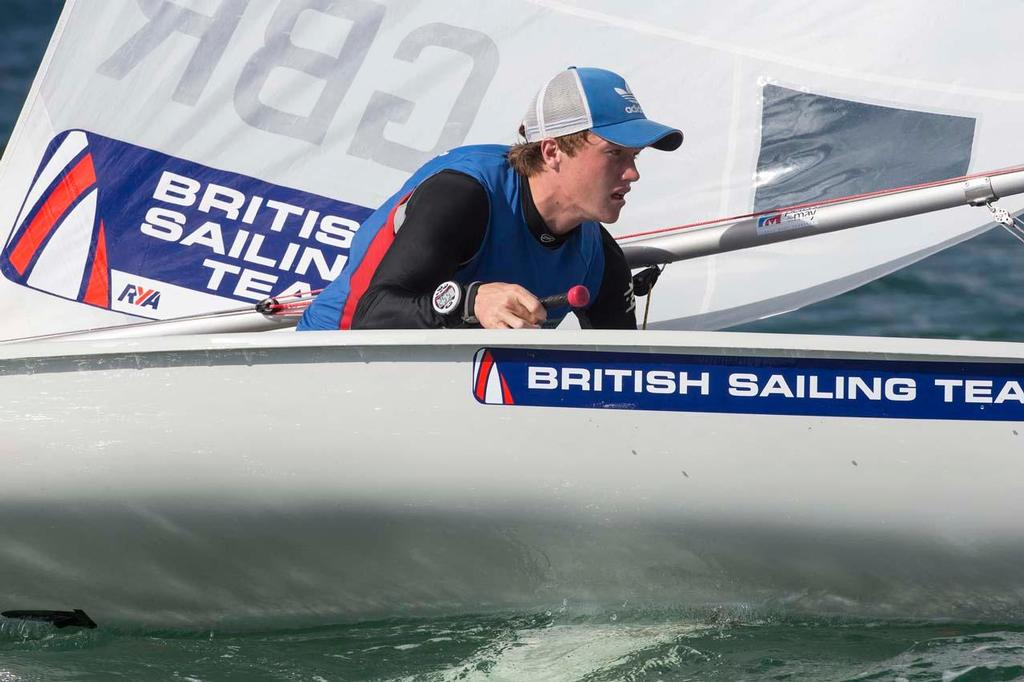 Elliot Hanson, Laser - ISAF Sailing World Cup Miami 2014 © Richard Langdon /Ocean Images http://www.oceanimages.co.uk