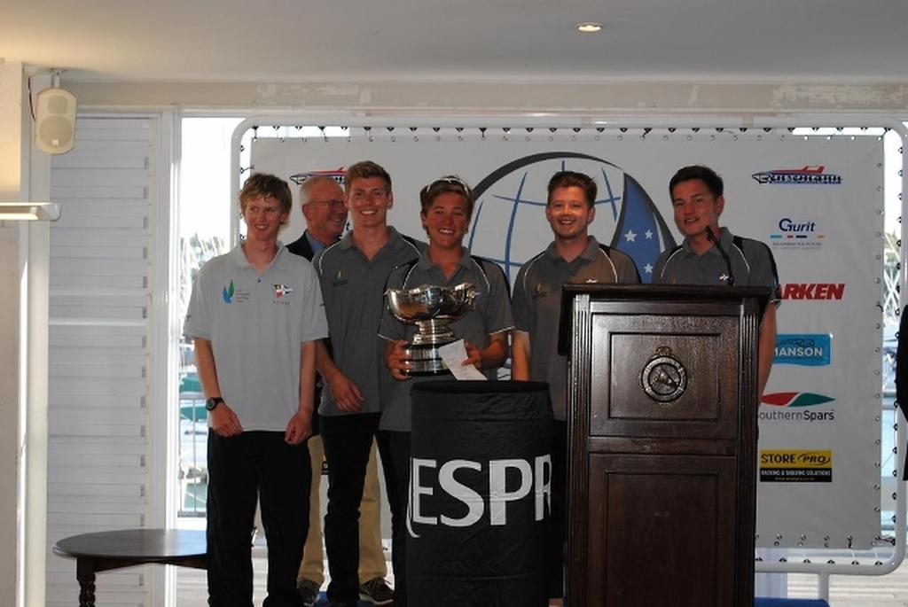 Winning Gautrey and crrew - 2014 Nesspresso Youth International Match Racing Championships © RNZYS Media