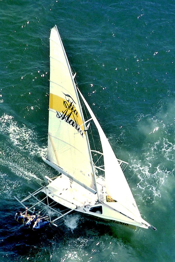Tia Maria won two titles in the 1980s - JJ Giltinan 18ft Skiff Championship 2014  © Australian 18 Footers League http://www.18footers.com.au