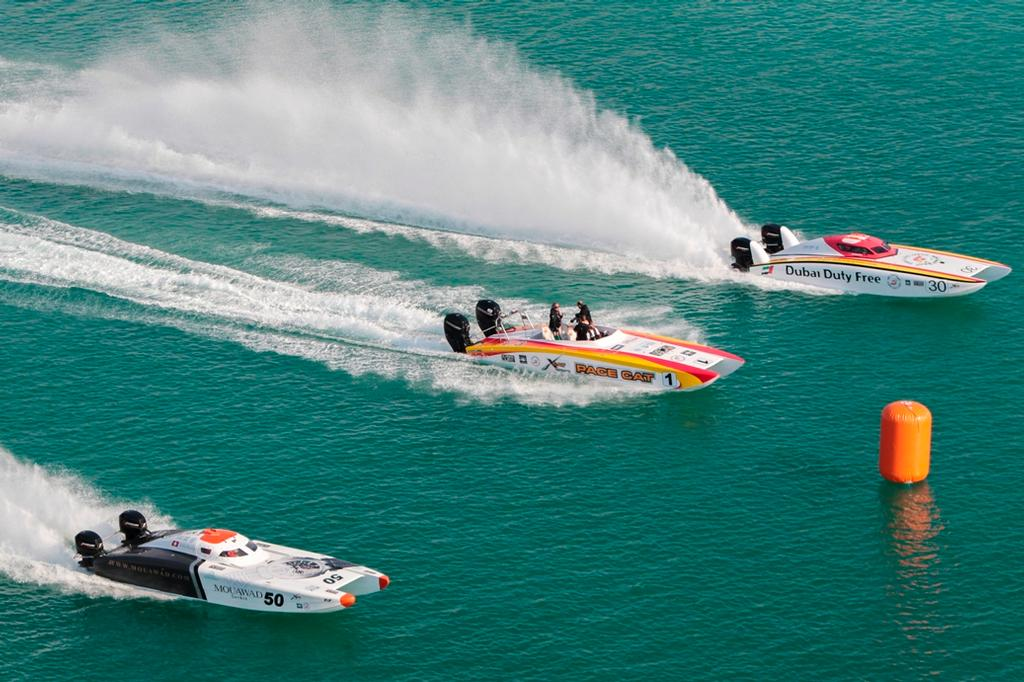UIM Skydive Dubai XCAT World Series 2014 © UIM Xcat Middle East Championships http://www.uimpowerboating.com/