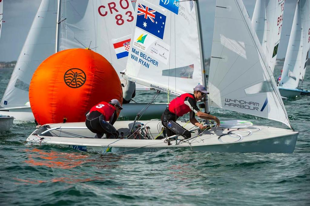 Mathew Belcher & William Ryan: Sailing World Cup 2014, Miami: Medal Race © Walter Cooper /US Sailing http://ussailing.org/