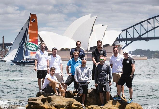 The skippers of Act Eight Extreme Sailing Series™ 2014 Sydney presented by Land Rover.  © Lloyd Images