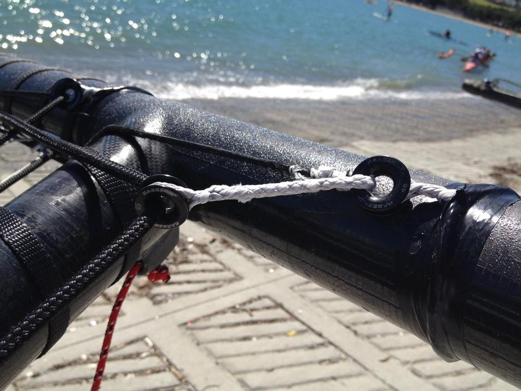 10mm Harken Lead Rings used on our jib sheet take-up system © Knight Frank Racing
