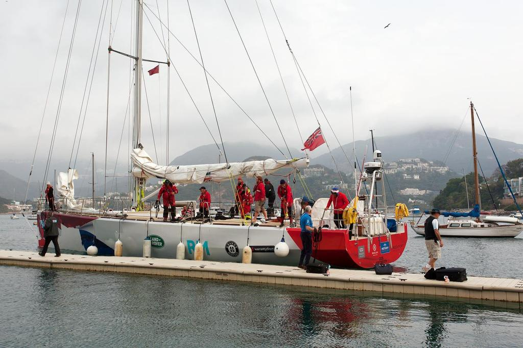 CLIPPER pitstop in Hong Kong. GREAT Britain arrives at RHKYC Middle Island.  <br />  &copy; Guy Nowell http://www.guynowell.com