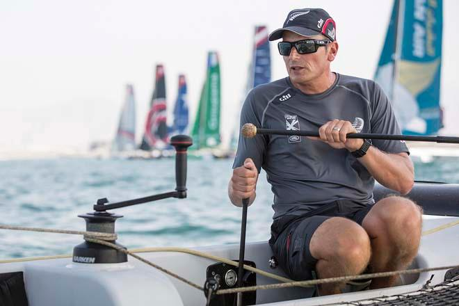 Dean Barker,  Day 3 of Act 2 in the 2014 Extreme Sailing Series © Lloyd Images/Extreme Sailing Series