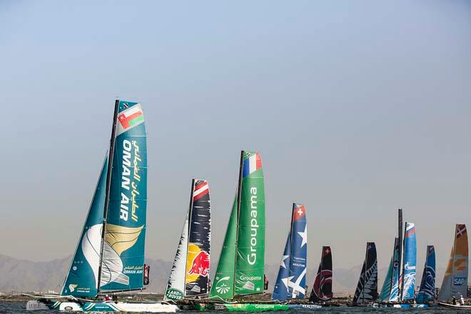 The Extreme 40 fleet  - Day 3, Act 2 of the 2014 Extreme Sailing Series © Lloyd Images/Extreme Sailing Series