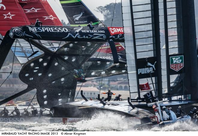 Emirates Team New Zealand vs. Oracle Team USA, Event:  34th America's Cup, Finals - Race 8, Location: San Francisco Bay, USA © Abner Kingman http://www.kingmanphotography.com