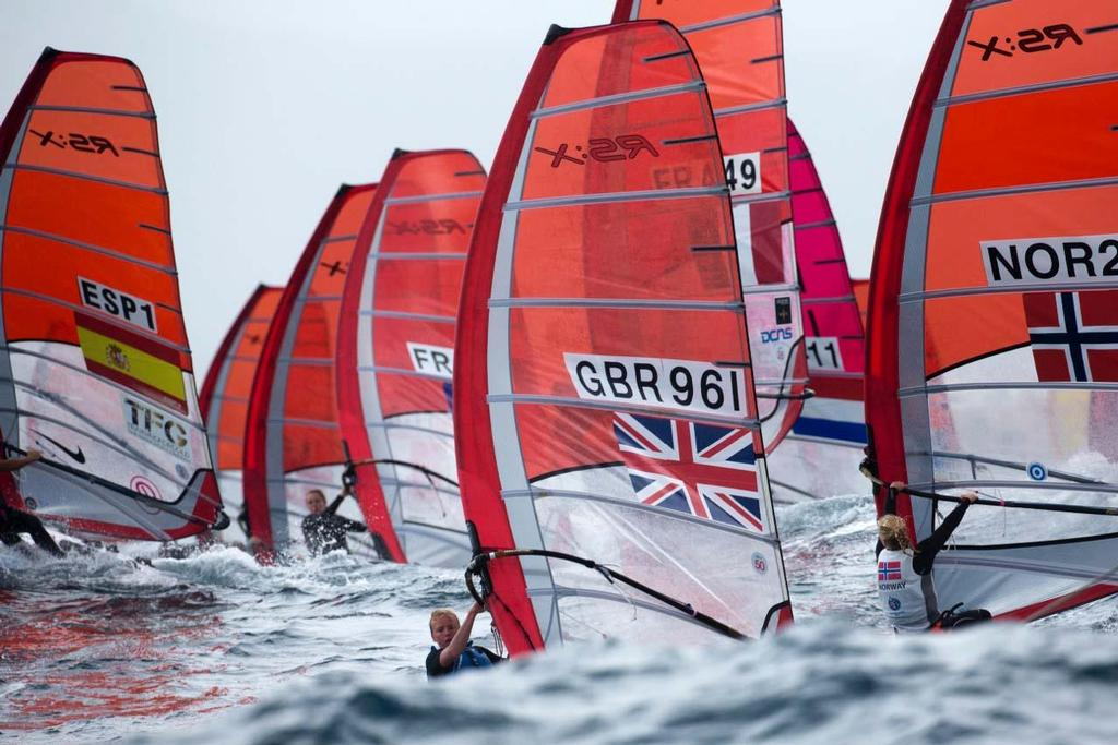 2014 ISAF Sailing World Cup Mallorca, day 4 - RS:X Women © Ocean Images