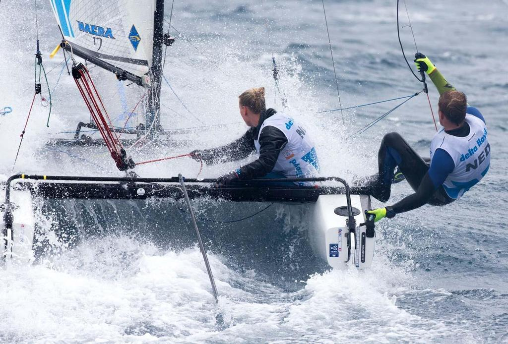 2014 ISAF Sailing World Cup Mallorca, day 4 - Nacra 17 © Ocean Images