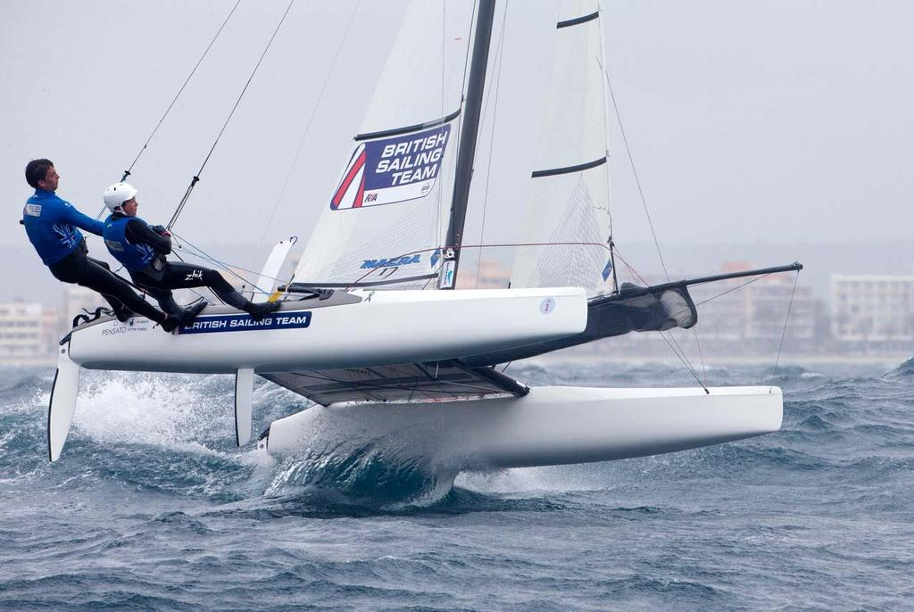 Nacra 17 - 2014 ISAF Sailing World Cup Mallorca, day 4 © Ocean Images