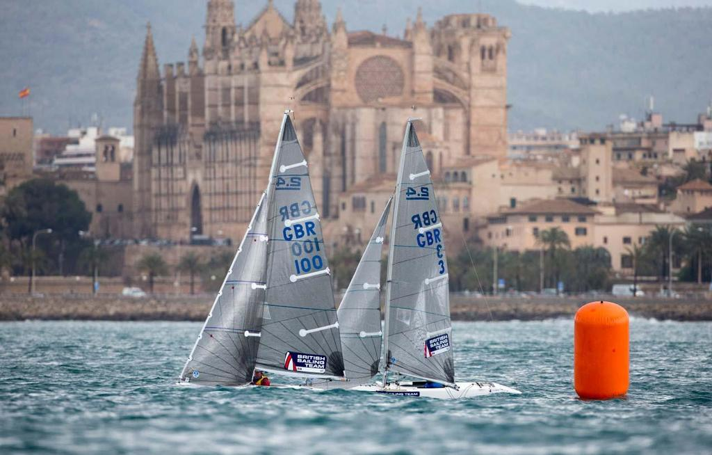 2014 ISAF Sailing World Cup Mallorca, day 5 - Helena Lucas and Will Street (GBR), 2.4mR © Ocean Images