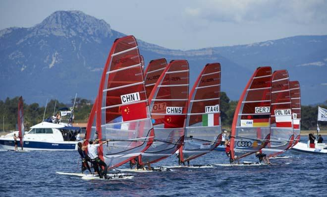 RSX Women's medal race - 2014 ISAF Sailing World Cup Hyeres © Franck Socha
