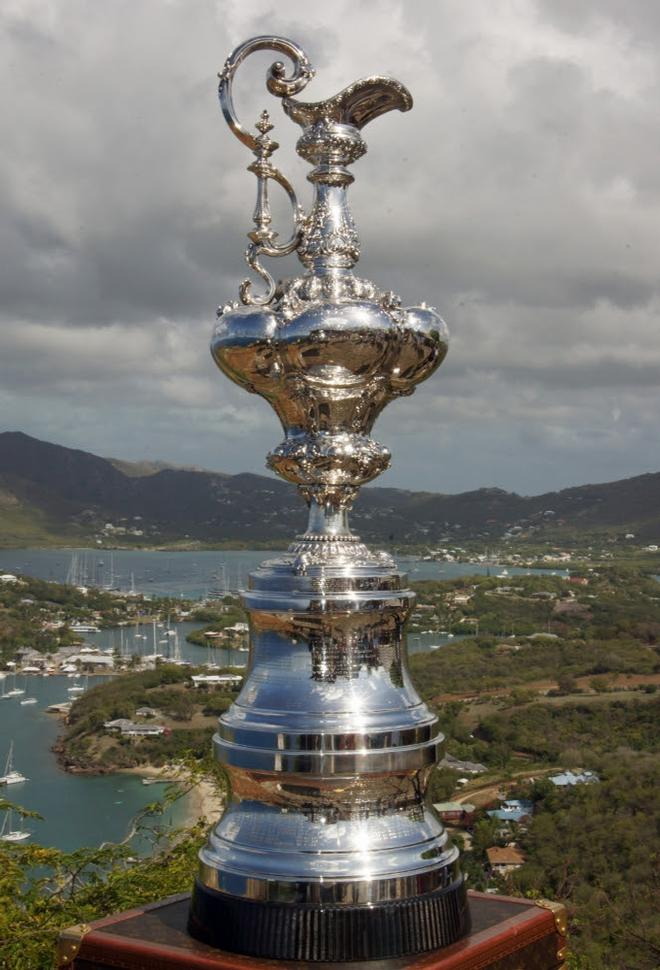 The America's Cup Trophy on display at Shirley Heights ©  Kevin Johnson http://www.kevinjohnsonphotography.com/