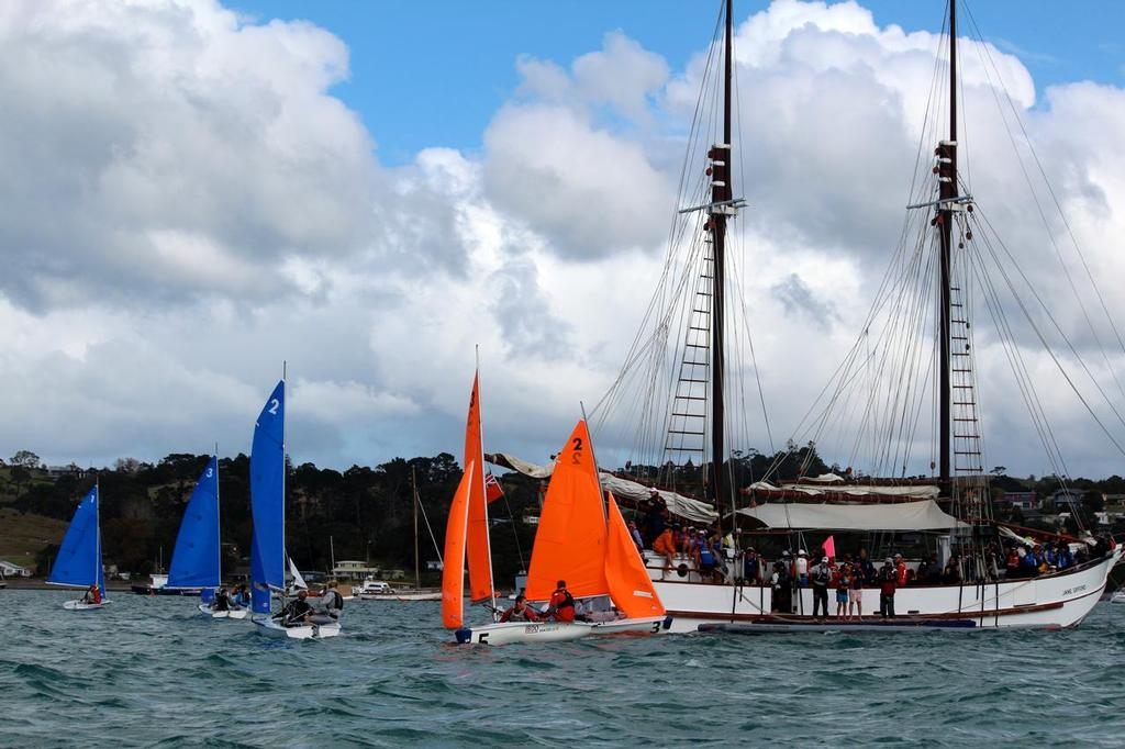 Changeover on the Jane Gifford - 31st Secondary School Team Sailing Nationals © Susanna Buckton