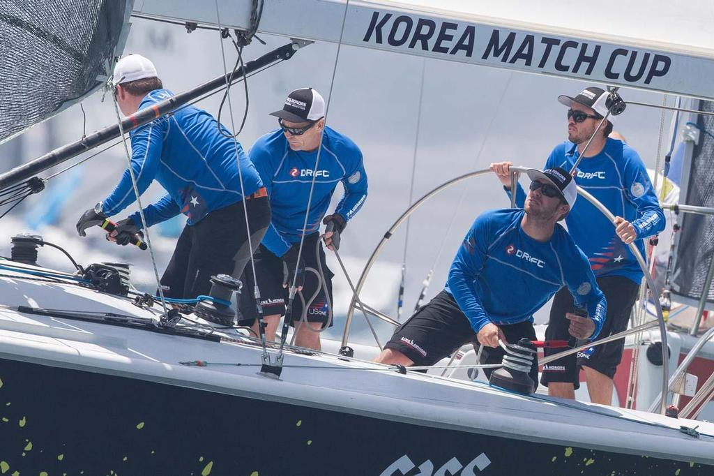 Taylor Canfield and his USone team in action at the Korea Match Cup 2013 ©  Gareth Cooke/Subzero Images
