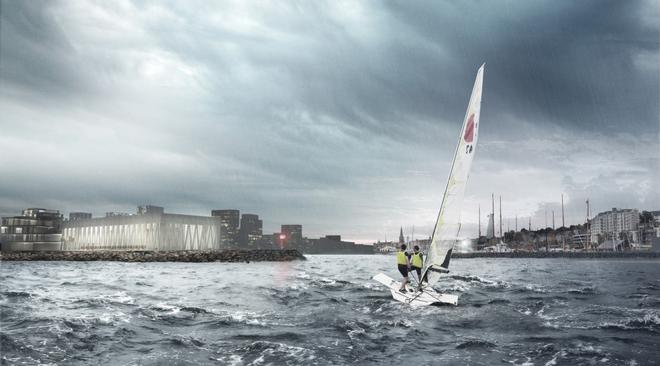 Aarhus 2018 - The right place at the right time Artist's impression of the Aarhus International Sailing Centre  © Sailing Aarhus http://www.flickr.com/photos/sailingaarhus/