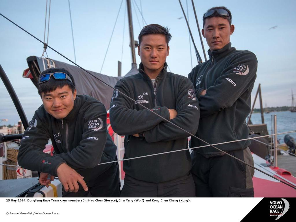Crew on board Dongfeng © Sam Greenfield
