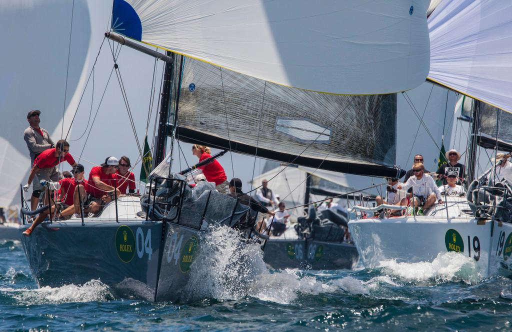 Helmut Jahn's Flash Gordon 6 (bow 04) leads the fleet on the final day of the series - Rolex Farr 40 North American Championship 2014  ©  Rolex/Daniel Forster http://www.regattanews.com