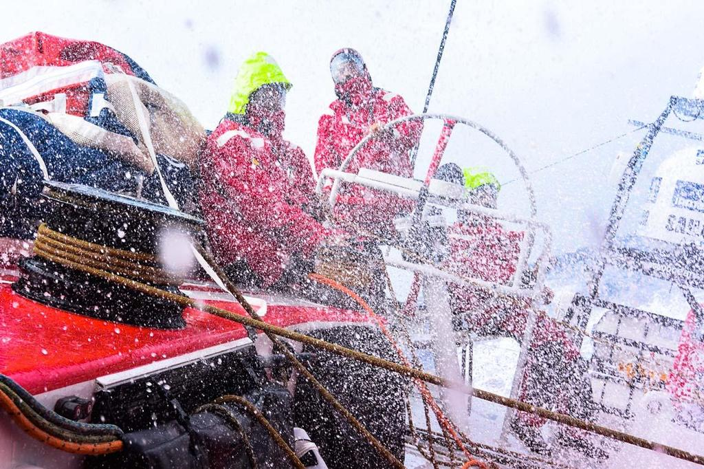 A variety of conditions onboard as Dongfeng Race Team prepare to race for China in the Volvo Ocean Race  © Dongfeng Race Team