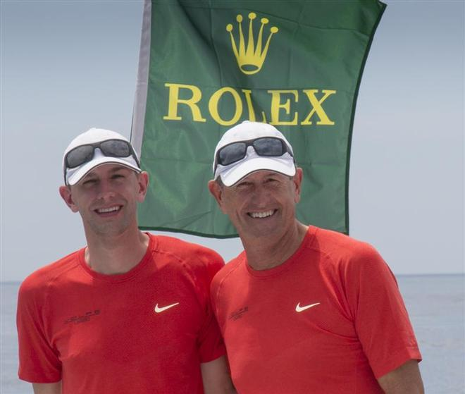 Father and son duo, Dick and Ryan DeVos, sailed VOLPE in the Melges 32 Class - 160th New York Yacht Club Annual Regatta 2014 ©  Rolex/Daniel Forster http://www.regattanews.com