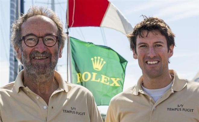 Father and son duo, Rob and Tom Humphries, sailed onboard Erbil Arkin's Tempus Fugit - 160th New York Yacht Club Annual Regatta 2014 ©  Rolex/Daniel Forster http://www.regattanews.com