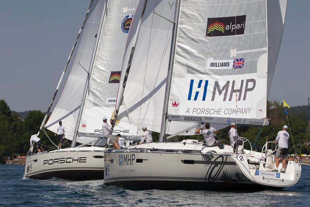 Action from the finals at Match Race Germany 2014 ©  Ian Roman / WMRT