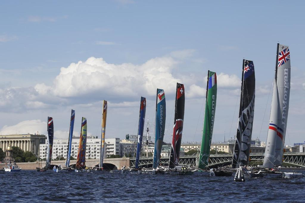 S7A2642 - Extreme Sailing Series - Day 3, St Petersburg, Russia © Eugenia Bakunova http://www.mainsail.ru