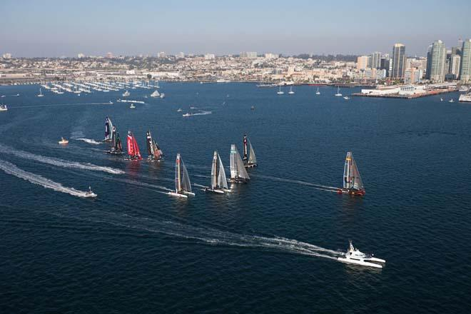 34th America's Cup - San Diego America's Cup World Series - Fleet Race © ACEA /Gilles Martin-Raget