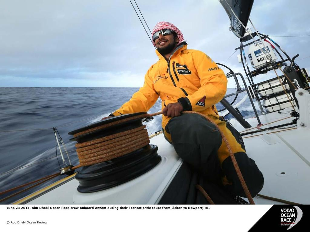 Abu Dhabi crew on board Azzam © Abu Dhabi Ocean Racing