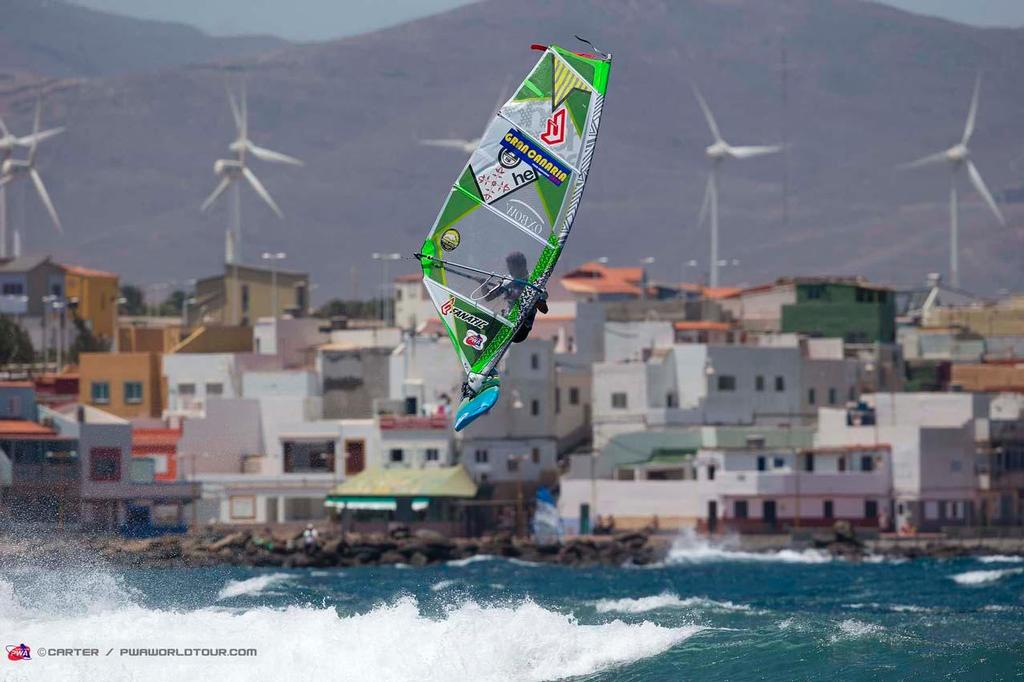 Arthur Arutkin storms to victory in the juniors - 2014 PWA Pozo World Cup / Gran Canaria Wind and Waves Festival, Day 1 ©  Carter/pwaworldtour.com http://www.pwaworldtour.com/