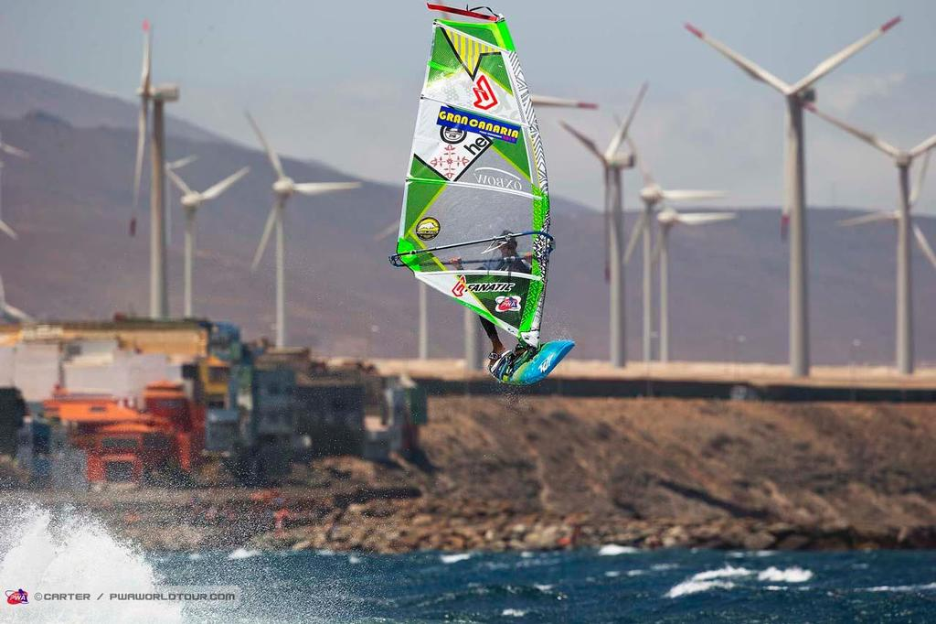 Arutkin delayed forward - 2014 PWA Pozo World Cup / Gran Canaria Wind and Waves Festival, Day 1 ©  Carter/pwaworldtour.com http://www.pwaworldtour.com/