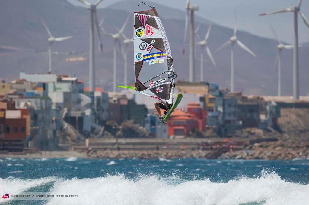 Junior competition - 2014 PWA Pozo World Cup / Gran Canaria Wind and Waves Festival, Day 1 ©  Carter/pwaworldtour.com http://www.pwaworldtour.com/