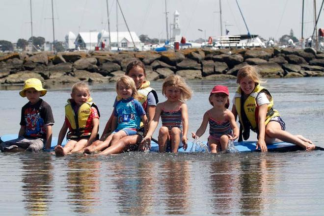 Festival Of Sails 2012, Royal Geelong Yacht Club, Geelong (AUS). Variety children enjoying a splash on the waterfront © Terri Dodds