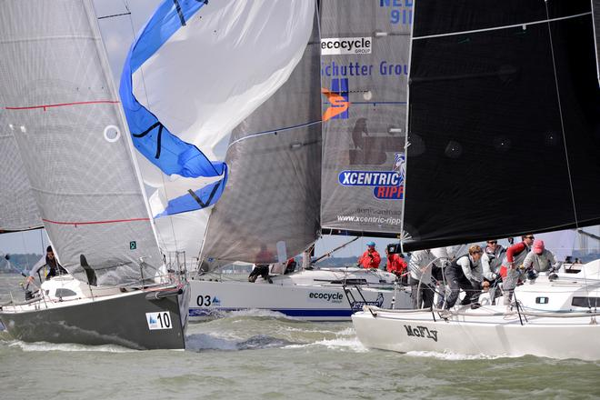 Jitterbug, Xcentric Ripper, McFly 2014 J111 World Championship Cowes Isle of Wight England. 22 August 2014 Race 5,6 and 7 © Stuart Johnstone