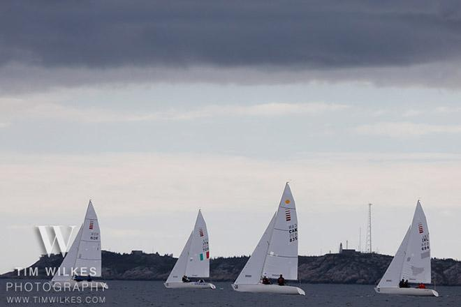 Sonars with a forbidding cloud above them - 2014 IFDS World Championship © Tim Wilkes