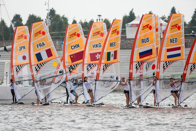 Girls Techno 293 Fleet - Nanjing 2014 Youth Olympic Games  © ISAF