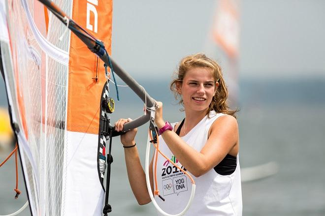 Odile Van Aanholt NED Techno 293 - Nanjing 2014 Youth Olympic Games  © ISAF