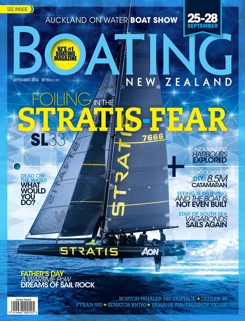 Statis SL33 makes the cover of Boating NZ - image by Bryce Taylor © SW