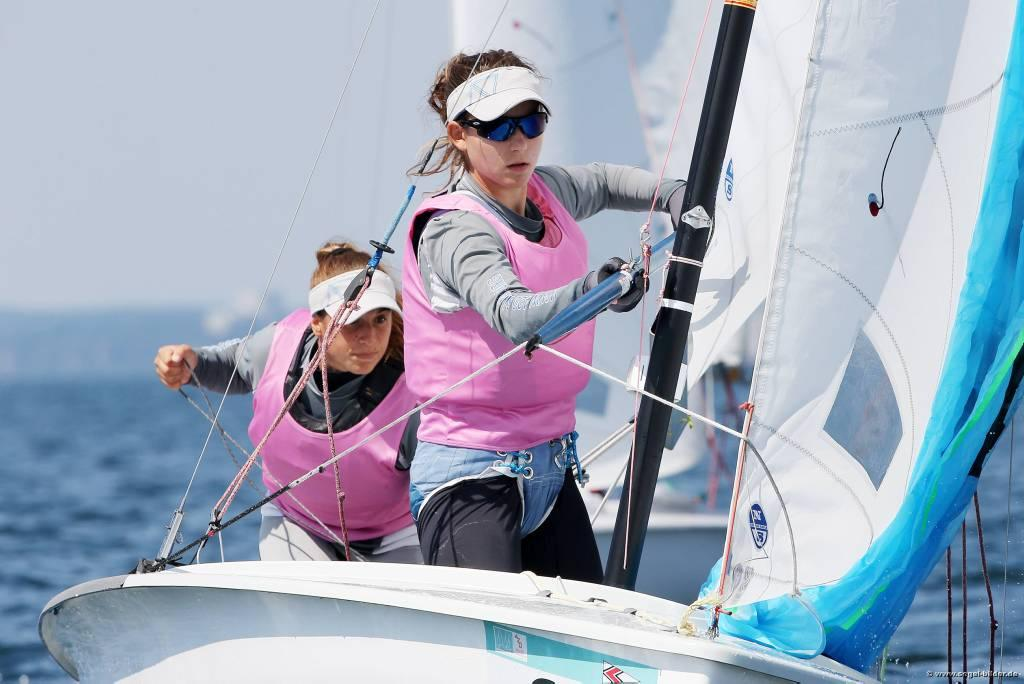 Aikaterini Tavoulari, Fotini Koutsoumpou - first day of the Finals in the 2014 420 Worlds © Christian Beeck