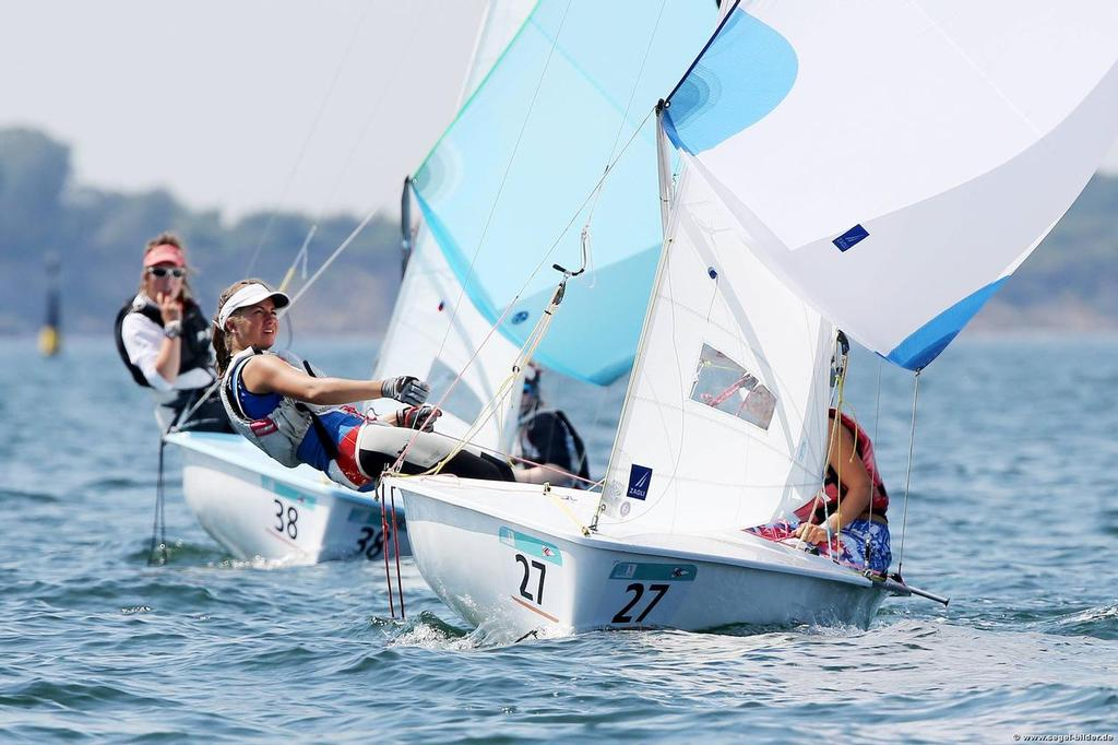 Elena Picotti, Maria Coluzzi - first day of the Finals in the 2014 420 Worlds © Christian Beeck